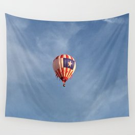 Hot Air Balloon Above the Fruited Plain Wall Tapestry