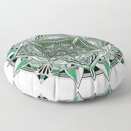 Green mandala Floor Pillow