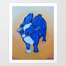 Blue Boston Art Print