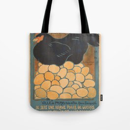 Vintage poster - I am a Fine War Hen Tote Bag