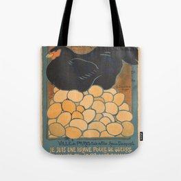 Vintage poster - I am a Fine War Hen Tote Bag