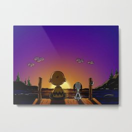 snoopy sunset Metal Print
