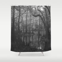 florida Shower Curtains featuring Florida Swamp by Kevin Russ