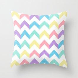 Colorful Chevron Throw Pillow