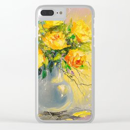Bouquet of yellow roses Clear iPhone Case