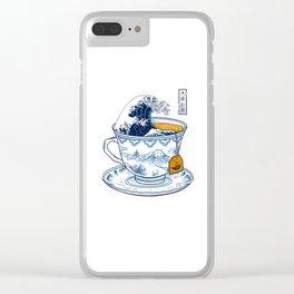 The Great Kanagawa Tee Clear iPhone Case