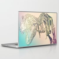 t rex Laptop & iPad Skins featuring T-REX  by T.E.Perry