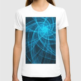 Tulles Star Computer Art in Blue T-shirt