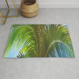 437 - Abstract Palm Tree Design Rug