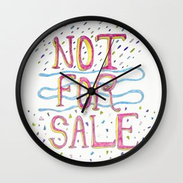 Not For Sale Wall Clock