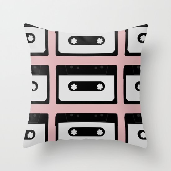 Cassette pattern Throw Pillow
