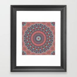 Tribal Medallion Rust Framed Art Print