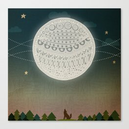 Light up the moon Canvas Print
