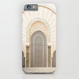 Perspective - Hassan II Mosque - Casablanca, Morocco iPhone Case