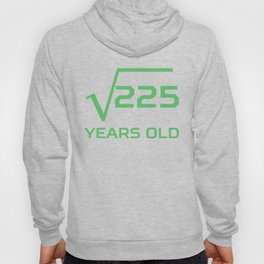 Square Root Of 225 Funny 15 Years Old 15th Birthday Hoody