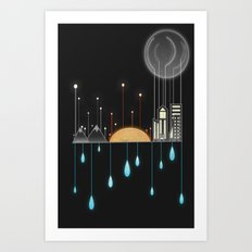 Holding Up With Drops Of Water Art Print