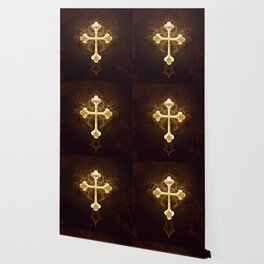 Golden Cross Wallpaper