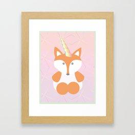 Foxy Unicorn Framed Art Print