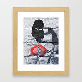 The Snake Villian Minimal Framed Art Print