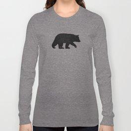 Black Bear Silhouette Long Sleeve T-shirt