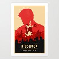 bioshock Art Prints featuring Bioshock Infinite by Bill Pyle