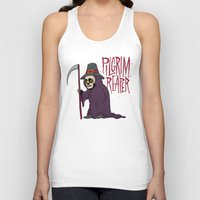 scott pilgrim Tank Tops featuring PilGrim Reaper by Chris Piascik