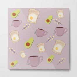 Breakfast Essentials - Avocado.Toast.Tea Metal Print