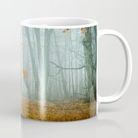 woods Mugs featuring Autumn Woods by Olivia Joy StClaire