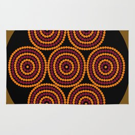 Aboriginal Cycle Style Painting Rug