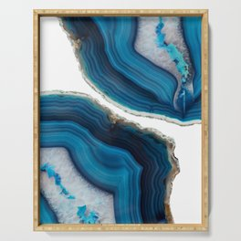 Blue Agate Serving Tray