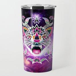 Batik space cat Travel Mug