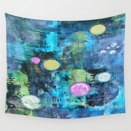 Abstract Floating Circles Wall Tapestry
