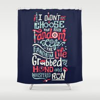 risa rodil Shower Curtains featuring Fandom Life by Risa Rodil