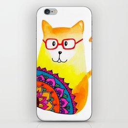 mandala cat iPhone Skin