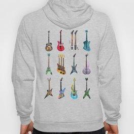 Electric Guitars Watercolor Hoody