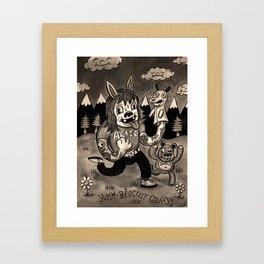 Yumm-Biscuit Gravy! Framed Art Print