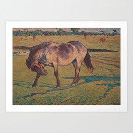 NILS KREUGER,  (A LITTLE HORSE). Art Print