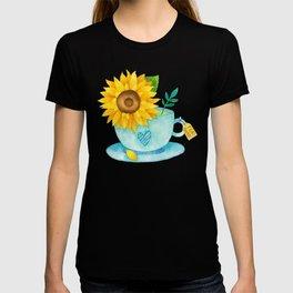 Sunflower Cup of Tea T-shirt