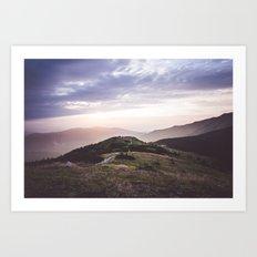 good morning mountains Art Print