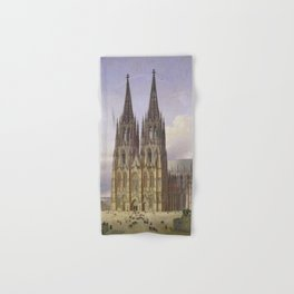 Carl Hasenpflug - Ideal View of Cologne Cathedral from Southwest Hand & Bath Towel