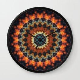 Fundamental Spiral Mandala Wall Clock