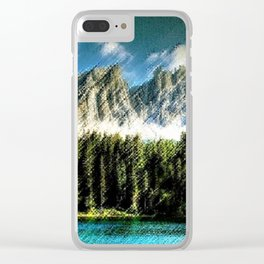 Carezza Lake Dolomites, Italy Landscape Painting by Jeanpaul Ferro Clear iPhone Case