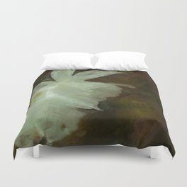 White Daffodils Impressionist Painting Duvet Cover