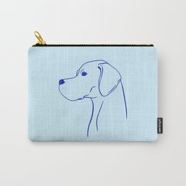 English Pointer (Light Blue and Blue) Carry-All Pouch