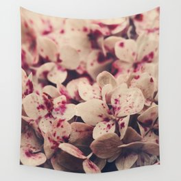hydrangea - pink freckles Wall Tapestry