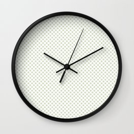 Meadow Mist Polka Dots Wall Clock