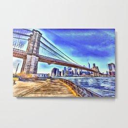 Brooklyn Bridge New York Art Metal Print