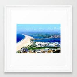 Portland Bill View (Weymouth, Dorset) Framed Art Print