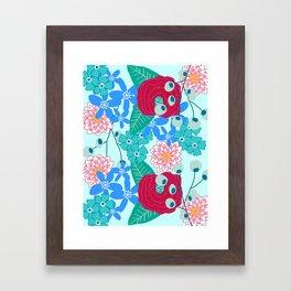 Floral surface pattern design Framed Art Print