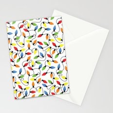 Endless Christmas Lights Stationery Cards